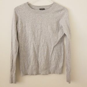 Express Sweater with crystal jewels on front
